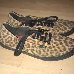 Cheetah print Vans men's sz 6.5 ladies sz 8